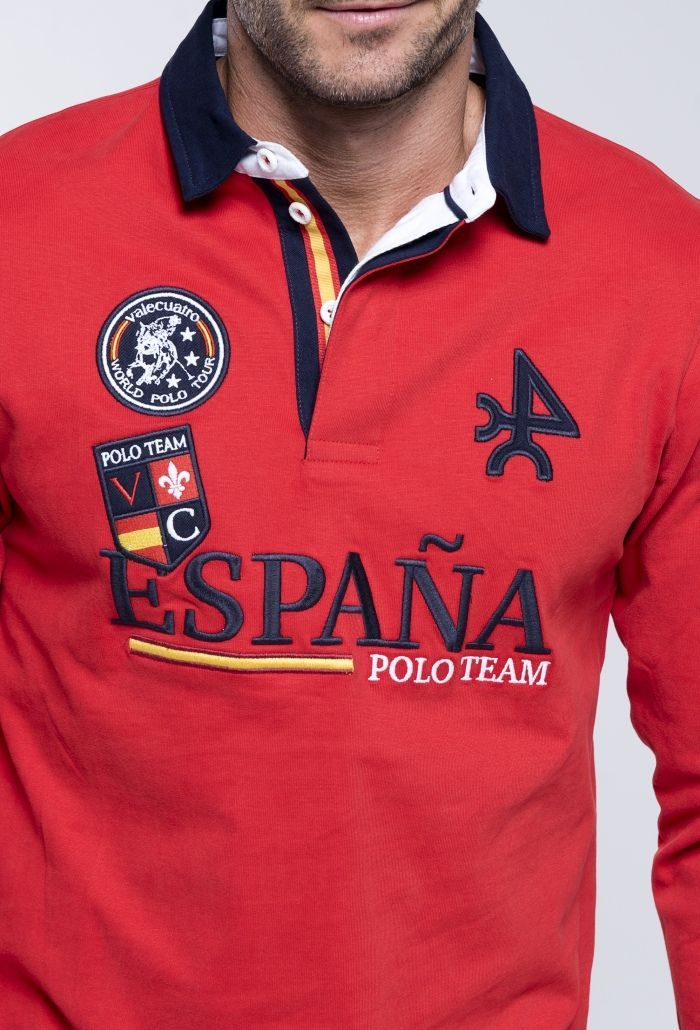 Rugby H Polo Team Esp Rojo